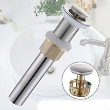 "1 1/2"" Bathroom Pop Up Brass Drain Brushed Nickel Overflow for Sink Support"