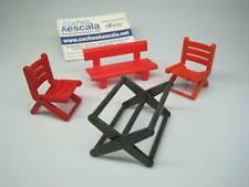 Playmobil Famobil REF 066 mesa silla plegable banco