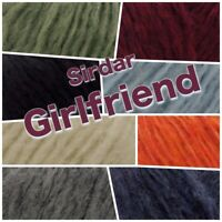Sirdar GIRLFRIEND Fluffy Incredibly Soft  Colour Chunky Knitting Wool Yarn 50g