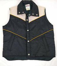 Sigallo Men's Button Snap Ski Vest Size Medium Waterproof Sleeveless Vintage
