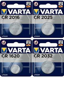 Varta Knopfzellen CR2016 CR2025 CR1620 CR2032 Batterien neuester Herstellung