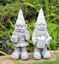 Paire De Jardin Gnomes Ornement Céramique effet pierre 48 cm de hauteur extérieure ou intérieure