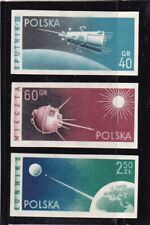 POLAND #875-877 MLH SPUTNIK 3, LINA 1 & SPUTNIK 2 (LANDING SOVIET MOON ROCKET)