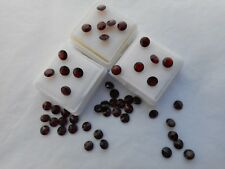 5mm garnet gemstone for jewellery making round cut and faceted stone £1.50p each