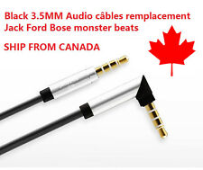 Audio câbles 3.5MM remplacement Jack Ford Bose Casques monster beats Black A025