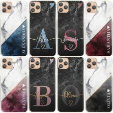 Personalizzato Iniziale Telefono Case-Heart Marmo Rigida Cover Per IPHONE 11/12