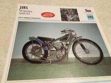 Carte moto JAWA 500 speedway double ACT 1982 collection Atlas Motorcycle CZ