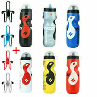 Portable Bicycle Water Drink Bottle+ Holder Cage Outdoor MTB Bike Cycling 750ml