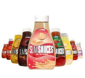 SLIM FOODS Zero Calorie Syrup Sauce Carb Free Fat Free Sugar Free Skinny 425ml