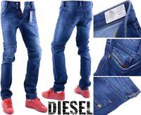 DIESEL AKEE 0860L W29 L34 Mens Denim Jeans Stretch Regular Slim Tapered Leg