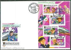 Guinea 2015 Boy Scout Baldoria Japon 2015 Foglio Primo Giorno Cover
