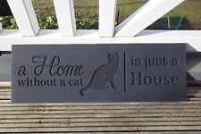 Fußbodenmatte Katze A Home Without A Cat Is Just A House Katze Fils 75x25 cm NEU