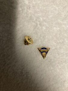 14kt Gold Burlington Railroad Service Pin