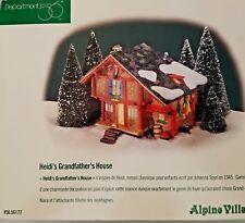 Dept. 56 Heidi's Grandfather's House Alpine Village Series 56177 In it's Box