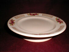 French LONGWY Majolica Faience Footed Pink Fruit Cake Plate 1934 (loc-29A)