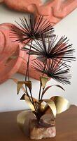 Vintage 60s 70s Brass Metal Pom Urchin Sculpture Mid Century Modern Brutalist