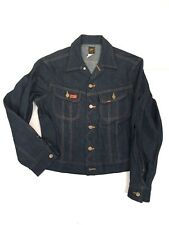 Vintage Lee Riders PATD 153438 denim Jean Jacket Trucker Men's 38R - Made in USA