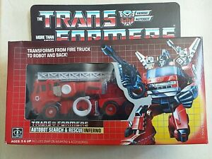 1985 Hasbro - Transformers Heroic Autobot Search & Rescue Inferno - New With Box