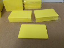 Yellow PVC Cards, CR80.30 Mil, Credit Card Size - USA - Pack of 10