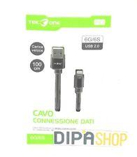 Cavo Usb TeKone 9A-13A Dati Ricarica Tessuto Per Apple Iphone 6 6s 1m Nero hsb