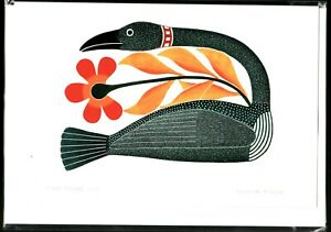 "FLORAL PASSAGE - 6"" x 9"" - art card by Kenojuak Ashevak- Free Shipping POD1007"