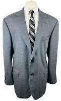 Nautica Mens 48L Gray Check Two Button Blazer Sport Coat Suit Jacket