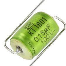 20 ST ROE kt-1801 assiale diapositive CONDENSATORE CONDENSATORE 150nf 100v 10% NOS