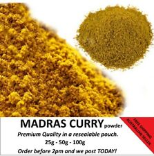 Madras Curry Premium quality 25g 50g 100g. Order before noon we post today.