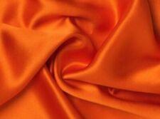 Orange Satin Fabric 115cm Wide (per metre)