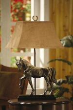 Crestview Collection 31 Ht. Bronze Horse Table Lamp Suede Rectangle Shade Lamp