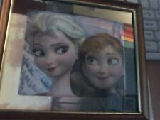 Up cycled Disney Frozen Elsa And Anna Framed Picture
