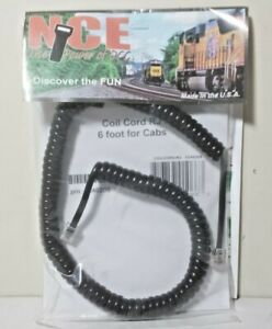 NCE CORPORATION 6' Coiled Cords for Cabs CoilcordRJ W/ RJ12 (Telephone Type Plug