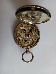 Große steirische Taschenuhr Bauern geschnittenes Uhrwerk Nachlaß