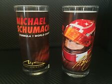 MICHAEL SCHUMACHER Formula 1 World Champion Glass Set Of 2 VERY RARE