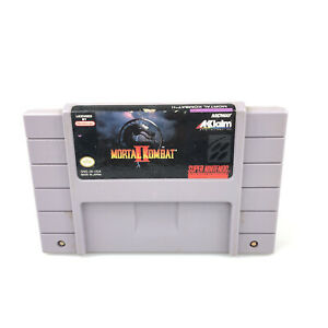 Mortal Kombat II 2 - SNES Super Nintendo Game - Tested Working Authentic
