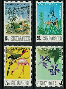 "singapore stamps 1970 World Fair ""EXPO '70"" - Osaka mint LH fresh - fresh"