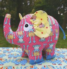 Phoebe Elephant - Sewing Craft PATTERN - Cloth Rag Doll Jungle Dumbo