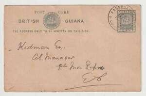 D2968: 1908 British Guiana Postal Card, East Coast