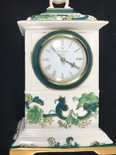 "Masons ironstone ""Chartreuse Green"" Mantle Clock 9.5"""