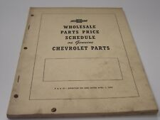 52 1952 CHEV CHEVY CHEVROLET WHOLESALE PARTS PRICE SCHEDULE ORIGINAL RARE!!