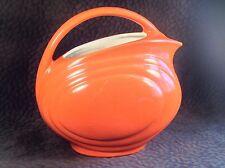 Red Wing Pottery Orange Pitcher Streamlined Gypsy Trail Hostess Water Jug 64 oz
