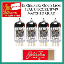 New 4x Genalex Gold Lion 12AU7 / ECC82 | Matched Quad / Quartet / Four Tubes