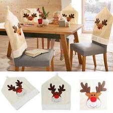 Stuhlhusse Weihnachten Rentier Elch Stuhl Hussen Bezug Stuhlbezug Deko 50x60cm