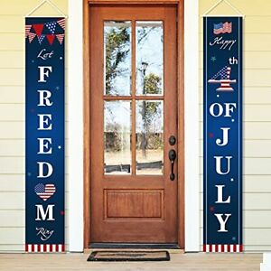 4th of July Decoration Banner Hanging Indoor Outdoor American Flag Decor