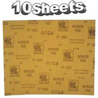 Indasa Rhynalox Plusline Production Paper P180 grit Sand Paper x 10 Sheets