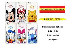 "Funda Iphone 4 5 6 7 plus Mickey, Minnie, Stich, Pooh, Donal""Envío desde España"""