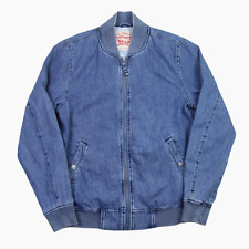 Levis Jeans Lyon Azul Denim Ligero Bomber Jacket Mens S Pequeño BNWT Nuevo