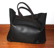 POLLINI Shopper Schwarz  Damen Tasche Bag Sac Leder Leather Handtasche