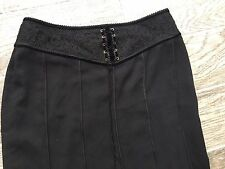 Black gothic steampunk skirt corset size 12 UK size 10 US fully lined lace Aria