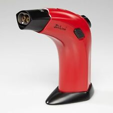 JetLine G-4000 Double Torch Flame Table Top Cigar Jet Lighter - Red - New